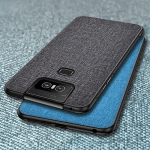 Image 2 - Cloth Hard PC Case For Asus Zenfone 6 ZS630KL Case Soft TPU Bumper Back Cover For Asus Zenfone 6Z Simple Shokcproof Case Coques