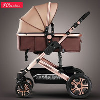 High landscape baby stroller can sit four wheel shock absorber folding two way bb baby child baby stroller