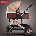 Hoge landschap kinderwagen kan zitten vier wiel schokdemper vouwen twee-weg bb baby kind kinderwagen