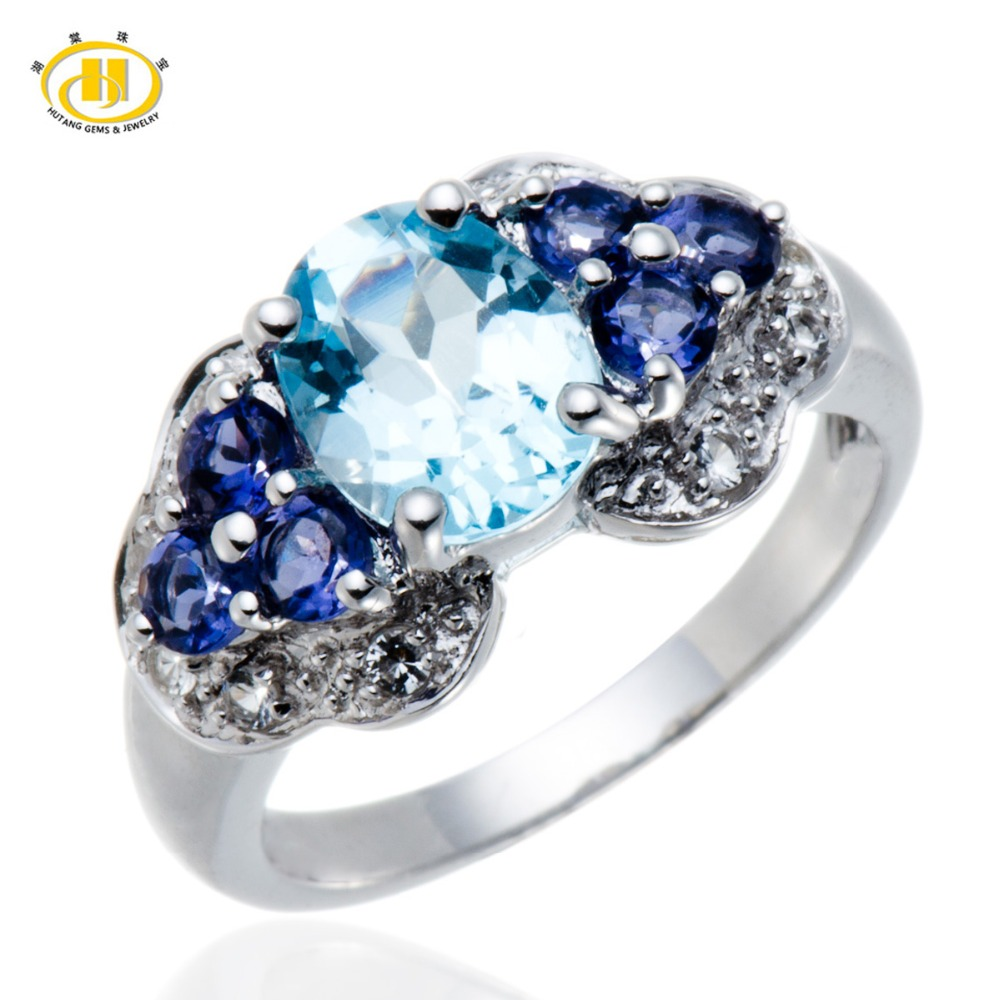 Fine Jewelry Womens Blue Blue Topaz Sterling Silver Cocktail Ring RLlPURIrX