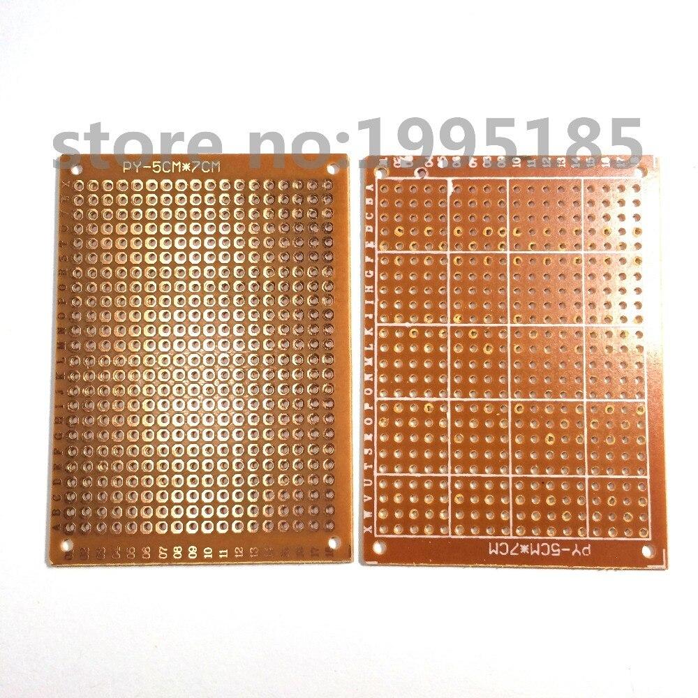 Heimwerker Elektrische Ausrüstungen & Supplies 10 Teile/los 5x7 Cm 5x7 Prototyp Papier Kupfer Pcb Universal-experiment Matrix-platine Marke Neue