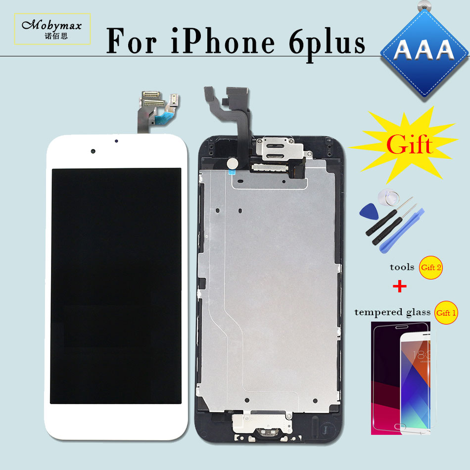 Pantalla for iPhone 6 Plus A1522 A1524 5.5 Display Screen Touch Digitizer Full Set Assembly Replacement+Home Button+Front Camera