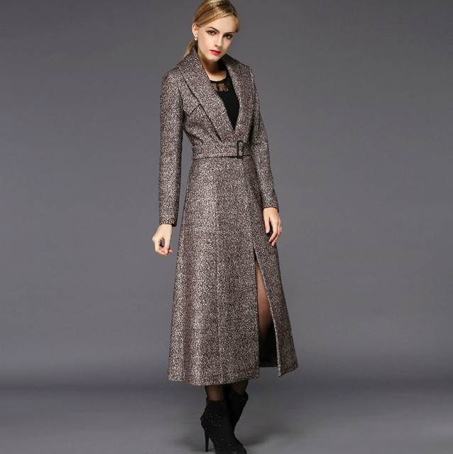 Aliexpress.com : Buy 2017 Fashion Solid Color Wool Coat Long Wool ...