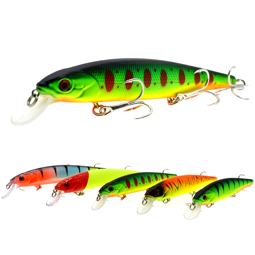 WLDSLURE  Best Quality Fishing Wobbler 24g/140mm Sinking Minnow Pike Bass Fishing Lures peche isca artificial-in Fishing Lures from Sports & Entertainment