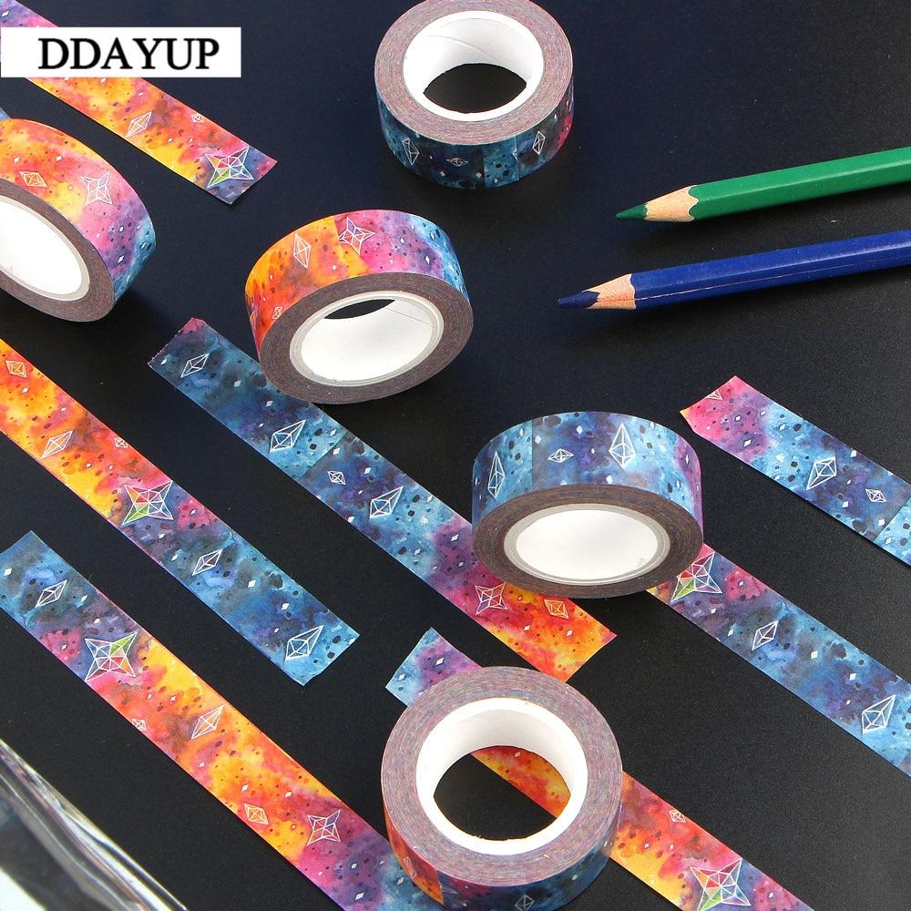 1Pcs Stars Sky Washi Tape Decorative Kawaii Washi Tape Scrapbooking Masking Tape Stickers Scrapbooking Washitape Masking Tape