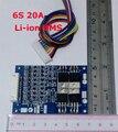 6 S 20A lipo литий-Полимерный БМС/PCM/ПЕЧАТНАЯ ПЛАТА защиты аккумулятора доска для 6 Пакетов 18650 Литий-Ионный Аккумулятор сотовый