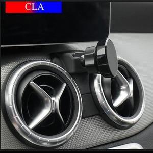 Image 3 - Универсальный металлический держатель для мобильного телефона, вентиляционное отверстие, 360 градусов, автоматическая подставка для Mercedes Benz GLA CLA GLC, c класс