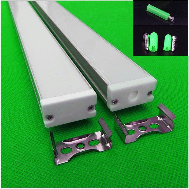 10-30 pcs/lot 40 pouces 1 m longue W30 * H16mm ultra mince led profil en aluminium pour double rangée 27mm led bande, linéaire bar boîtier de la lumière