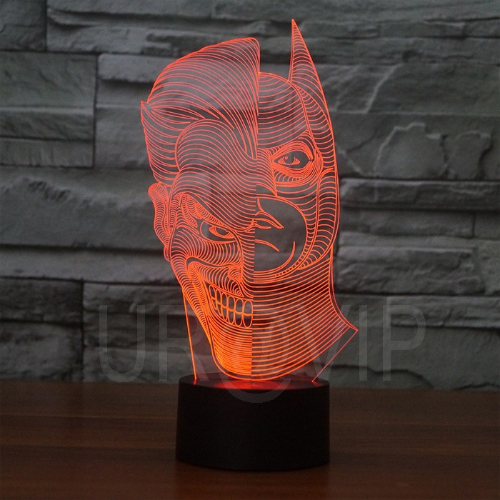 JC-2835  Amazing 3D Illusion led Table  Lamp Night Light with double face shape   (1)