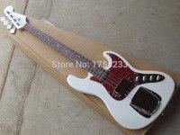 . Free Shipping hot New Arrival Custom Guitar JAZZ Bass Guitar 4 Strings natural Wood Bass Electric Guitar