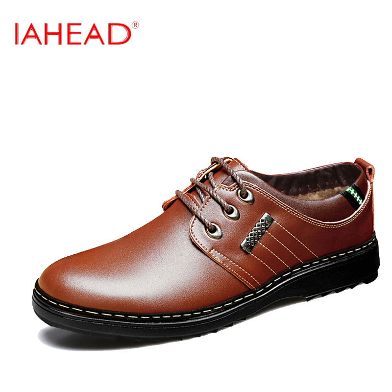 Men Leather shoes Plus Size 38-46 Autumn Genuine Leather Shoes Lace Up Platform Fashion Flats Casual Shoes MC320 free shipping small size 38 39 44 men spring autumn flats boy genuine leather shoe students fashion trend lace up shoes non slip