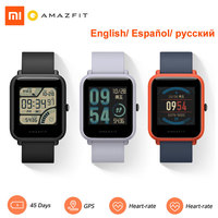 Huami Xiaomi Amazfit Bip Global Version Smart Watch English/ Spanish/ Russian GPS Smartwatch Android iOS Heart Rate Monitor