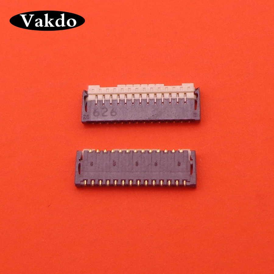 2 قطعة/الوحدة الأصلي شاشة الكريستال السائل الشركة العامة للفوسفات موصل منفذ التوصيل على اللوحة ل ASUS zenfone 2 ZE500KL Z00ED zenfone 2 27pin 27 دبوس