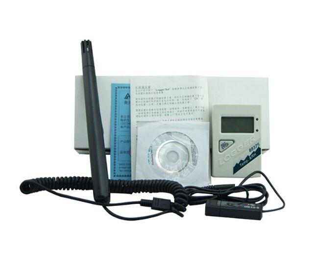 humidity Data Logger Temperature Logger Az88375 Temperature And Humidity Logger Usb Temperature Recorder Led Display