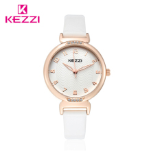 Kezzi Model Luxurious Diamond New Trend Girls Woman Wrist Watch Leather-based strap Analog Quartz Informal Watch okay1420 Feminino Relogio