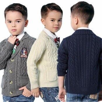 Детские Свитера Кардиган Для Мальчиков Весеняя Куртка Толщиная Верхняя Одежда Трикотаж >> HD Mimixiong Store