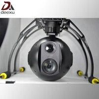 Беспилотных летательных аппаратов БПЛА Drone Инфракрасный Тепловизор и 30x зум HD видео камера с 3 оси gimbal стабилизатор