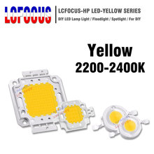 1 watt 3 watt 5 watt 10 watt 20 watt 30 watt 50 watt 100 W Gelb 1 3 5 10 20 30 50 100 W Watt High Power LED COB Chip SMD DIY Super Helle Licht Lampe Lampen(China)