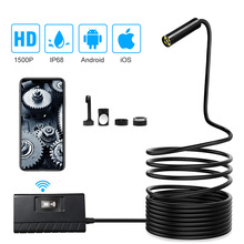 Wifi Endoscope Camera 1/3.5/5/10m Soft cable 14.2mm HD 1520P For IOS Android Phone Borescope Mini Camera Pipe PCB Car Inspection