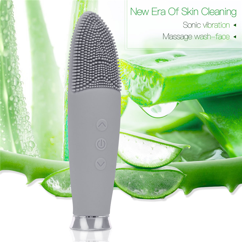 Electric Face Cleaning Waterproof Facial Cleansing Brush Pores Blackhead Remover Silicone Face Cleaner Skin Cleaning Machine electric silicone face massage cleaner cleanser face cleansing brush blackhead remover skin care brushes