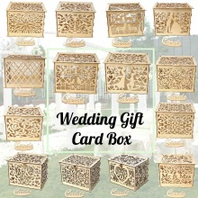 14 типов DIY коробка для свадебных подарочных карт деревянная копилка с замком и ключом Красивые свадебные украшения для дня рождения
