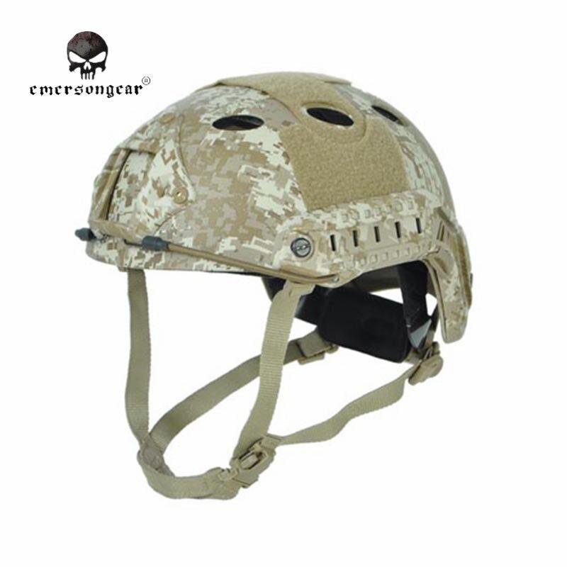 EMERSON Carbon Fiber Helmet PJ Type Fast Jumping Protective Face Mask Helmet Men Paintball Military Helmet EM5668 Digital Desert