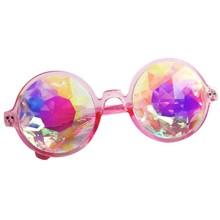 Caleidoscopio de Las Mujeres gafas de Sol Modelo Pasarela Espectáculo Gafas Hombres Lente Deslumbramiento diamante Artificial Steam Punk Gafas de Senderismo