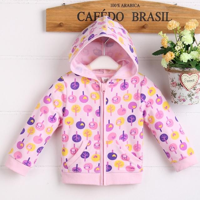 Jaqueta da menina do algodão do bebê de alta qualidade frete grátis 100 com bonito padrão de impressão C05