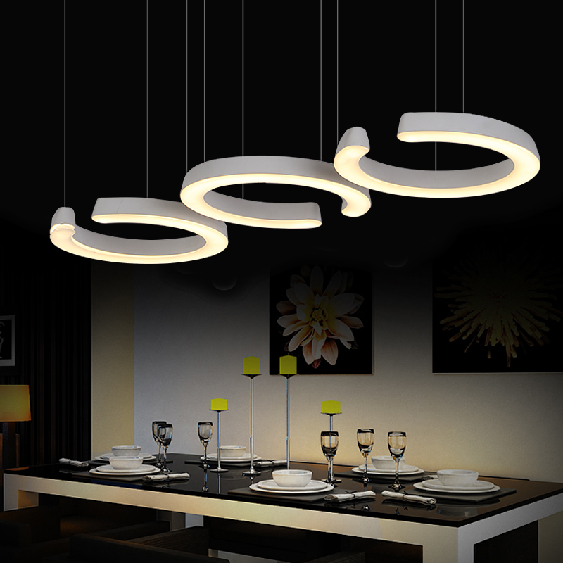 3 heads dining room table off head pendant light Personality C type kitchen restaurant led