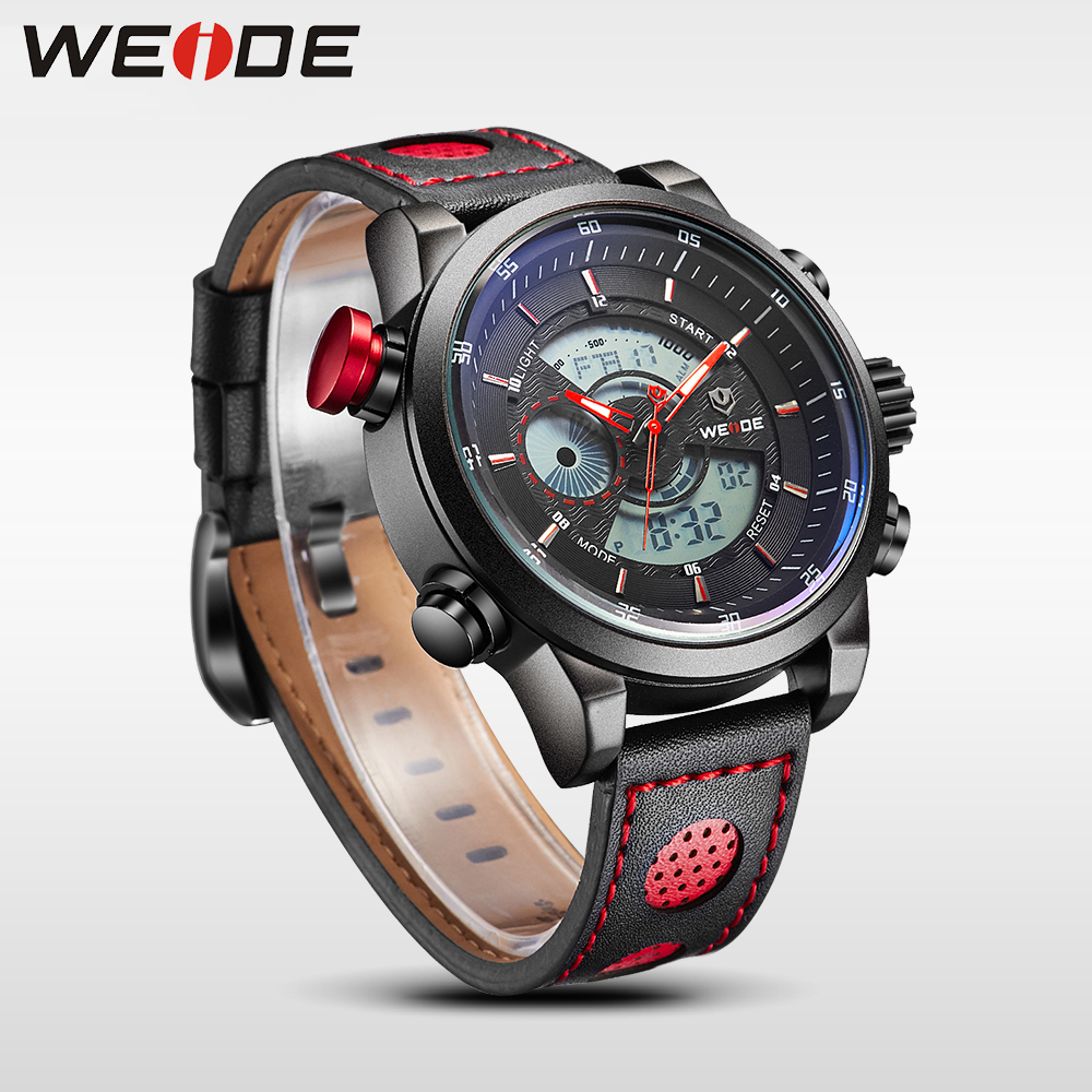 WEIDE Sport Quartz Digital LCD Dual Time Zone Chronograph 1