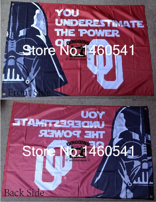 Oklahoma Sooners Wars Flag 3ft x 5ft Polyester NCAA Banner Flying Size No.4 144* 96cm QingQing Flag