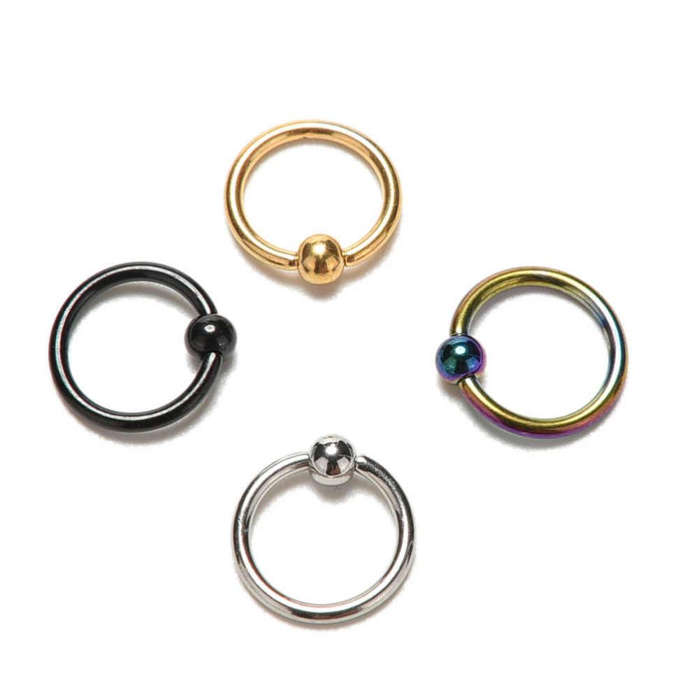 JETTINGBUY 1 Pc פלדה אל חלד טבעות האף טבעת שפתיים האף תכשיטי פירסינג Stud לנשים 4 צבעים זמינים חמה מכירת