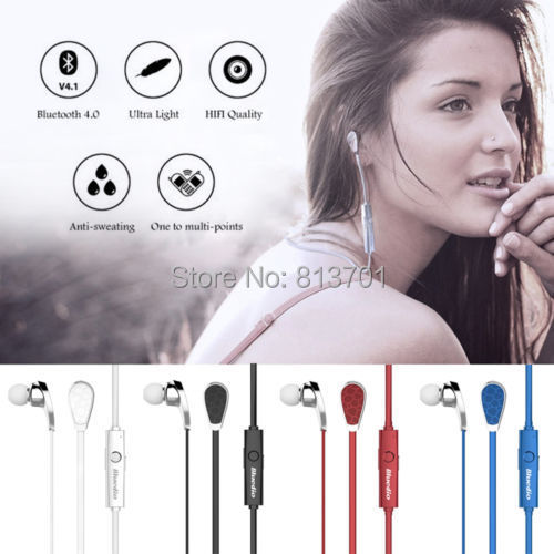 Original Bluedio N2 Bluetooth V4.0 Wireless Sports Run Waterproof Stereo Earphone Earbuds Volume Mic for iPhone Samsung Android