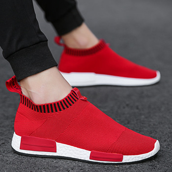 Cork Men Shoes Sneakers Men Breathable Air Mesh Sneakers Slip on Summer Non-leather Casual Lightweight Sock Shoes Men Sneakers 1