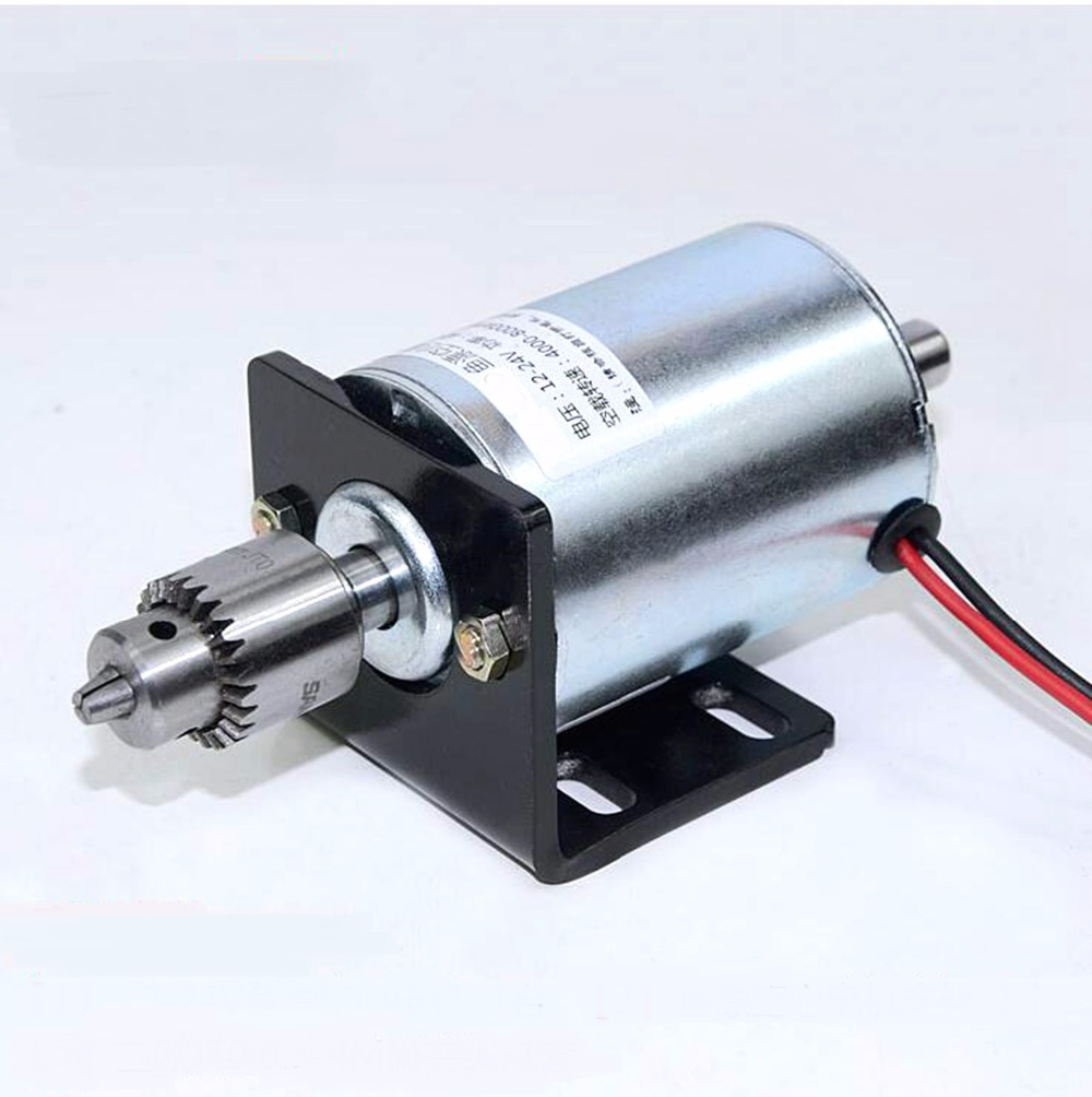 24VDC 0.45A 8000RPM Motor DIY Accessories For Mini Lathe Table Saw Electric Saw Bench With Holder DIY Drill Cutting Woodworking