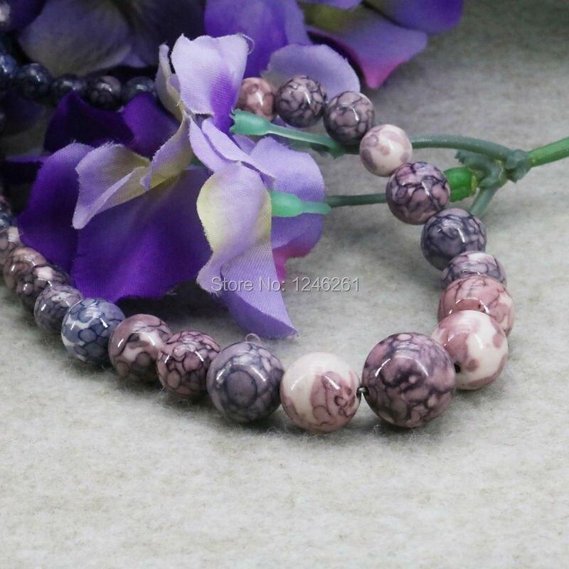 New Crafts Tower Necklace Chain Semi-precious Stone Riverstone Rain Flower Rainbow 6-14mm Fashion Jewelry For Women Girls 15inch