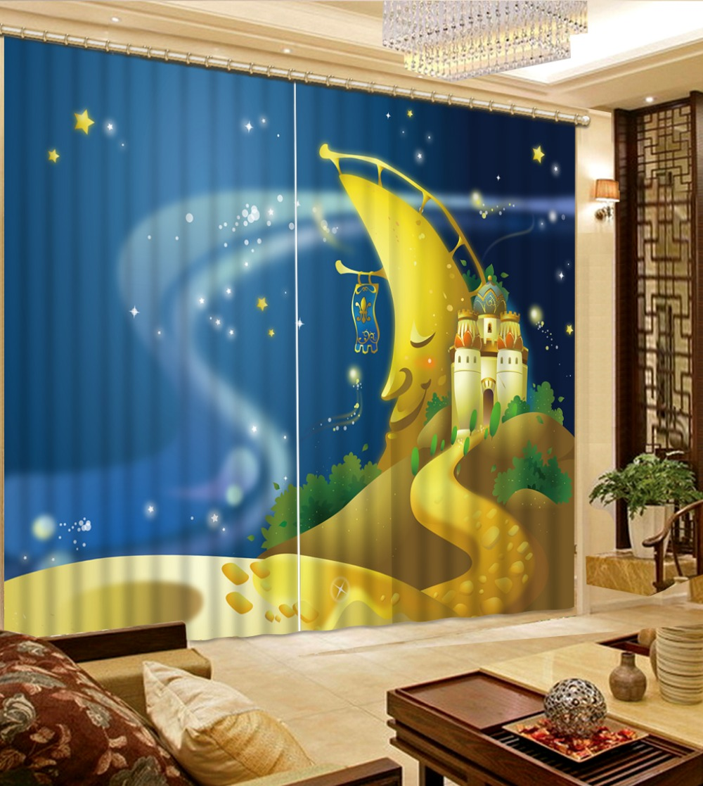 Living room curtains 2016 - 2016 Photo Customize Size Kids Room Curtains Custom 3d Cartoon Curtains For Living Room China