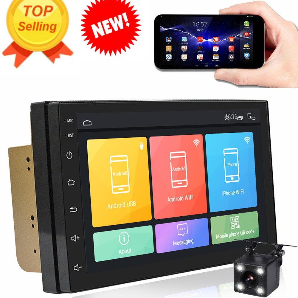 Rythme nouveau 2 din android 6.0 GPS de voiture auto radio bluetooth audio multimédia lecteur dvd Navigation soutien dab android voiture stéréo