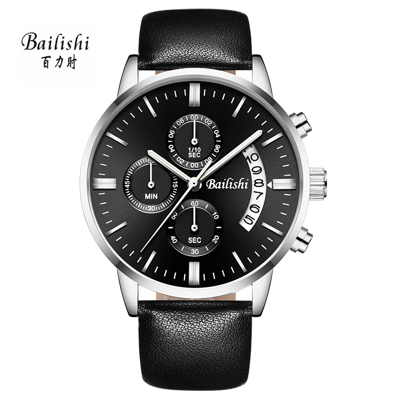 BAILISHI Brand Men Watches Genuine Leather Luxury Dress Watch Male Quartz Cool Black Wrist Watch Montre Relogio Masculino luxury original yazole brand genuine leather quartz dress wrist watch wristwatches for men women black white no 311