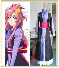 Free shipping Japan font b Anime b font SEED Lacus Clyne Kimono font b Cosplay b