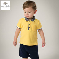 DB5854 Dave Bella Summer Baby Boys Cotton Polo Shirts Infant Clothes Toddle Polo Kids Tops Children