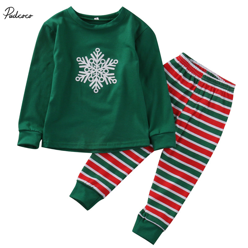 6478a95d822d Family Matching 2 Pieces Letter Print Christmas Pajamas Sets Bear ...