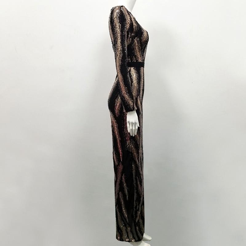 Split À Occasion Robe Longues Maille Manches Haut Célébrité 2018 Sequin En Mode Parti Patchwork De Soirée Longue Gros Brun 08mNnw