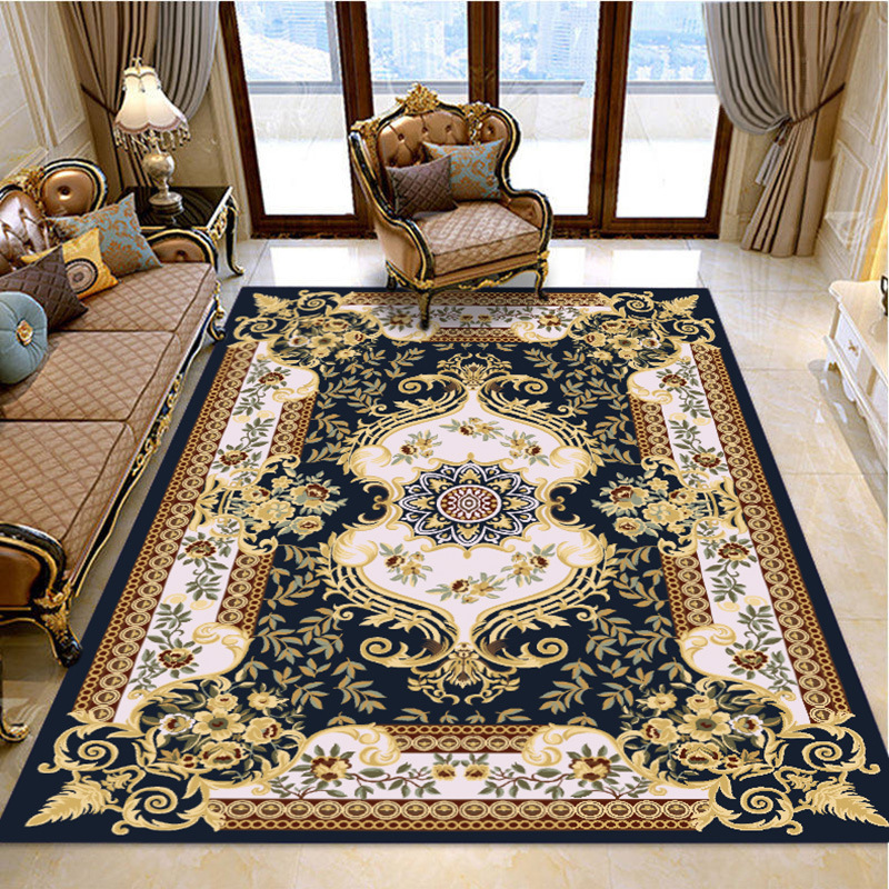 Europe Persian Carpets For Living Room Hotel Carpet Bedroom Flower Sofa Coffee Table Rug Study Room Floor Mat Palace Soft Rugs