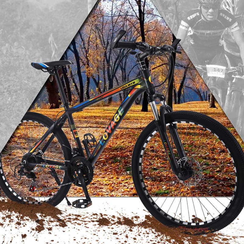 Wolf's fang, Новый горный велосипед, 26 дюймов, 21 скорость, Fat Bike, рама из алюминиевого сплава, дорожные велосипеды, Пружинная Вилка спереди и сзади