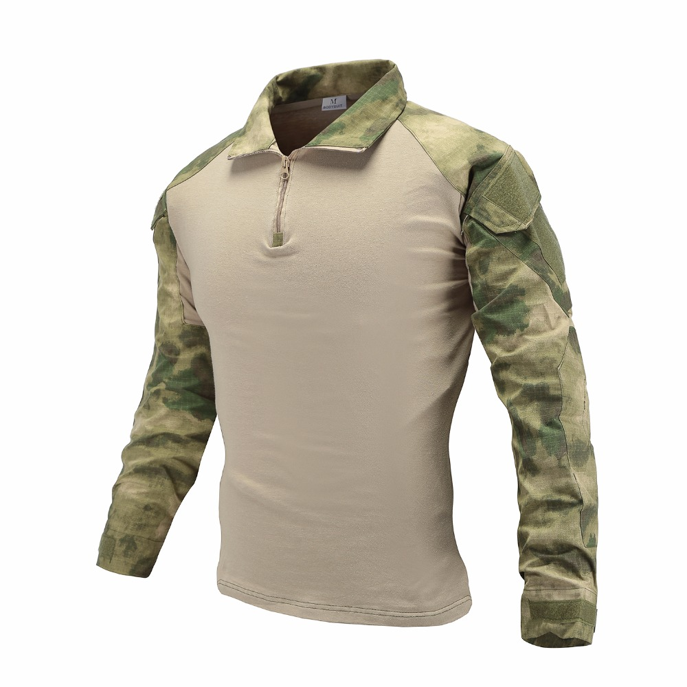 Sports & Entertainment Hot Cs Shooting Tactical Camouflage Shirt Men Outdoor Hunting Training Paintball Army Combat Long Sleeve T-shirt Tops Hiking Shirts