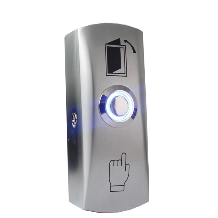 Exit button with LED light for Access control zinc alloy Material the Bottom Box  Door Push Exit Door Release Button SwitchExit button with LED light for Access control zinc alloy Material the Bottom Box  Door Push Exit Door Release Button Switch