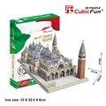Cubicfun 3D бумажная собрать модель DIY игрушка подарок на день рождения головоломки УЛ. марка площади Пьяцца Сан-Марко архитектура здания италия 1 шт.