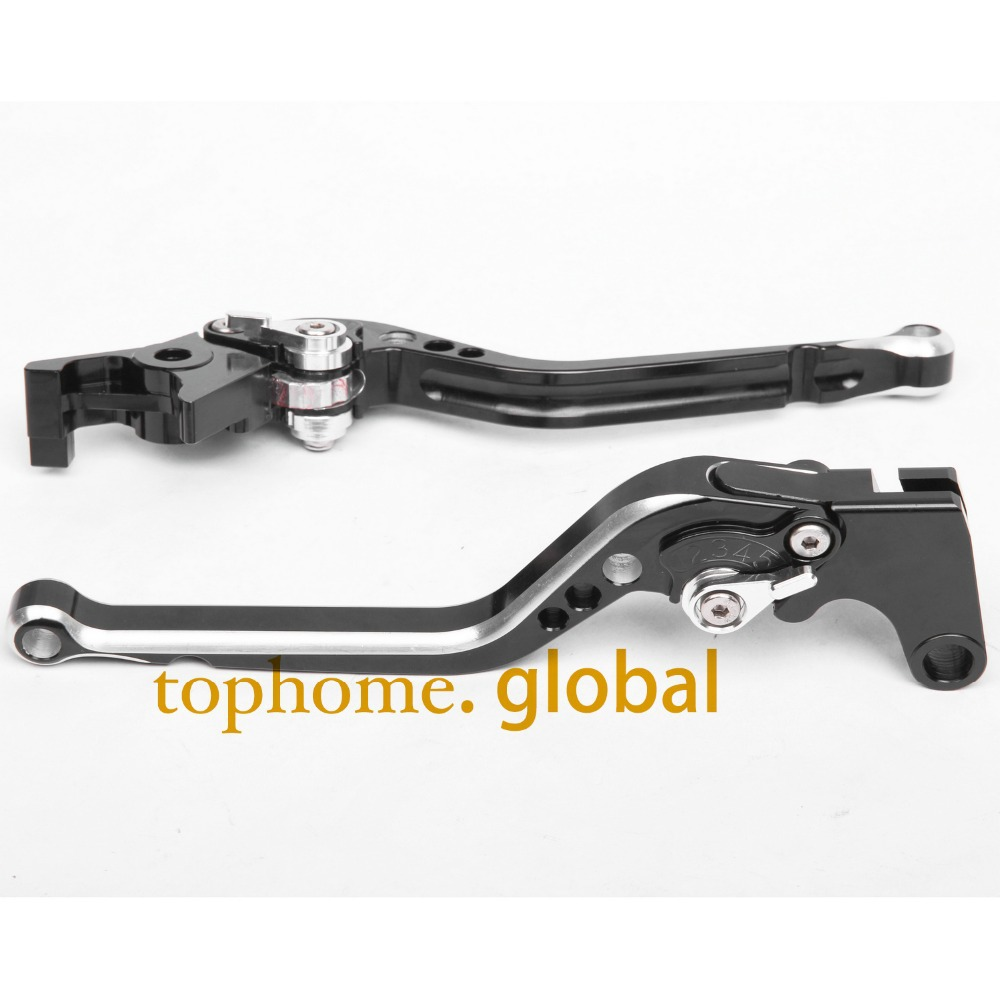 CNC Motorcycles Brake Clutch Levers Regular size Mixed Black&Silver Color For Yamaha XJ6 DIVERSION 2009-2010 2011 2012 2013 2014