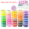 36 Cups Play foam 36 colors Light Soft Color Clay Model Magic Air Dry slime Plasticine slime with molds Playdough